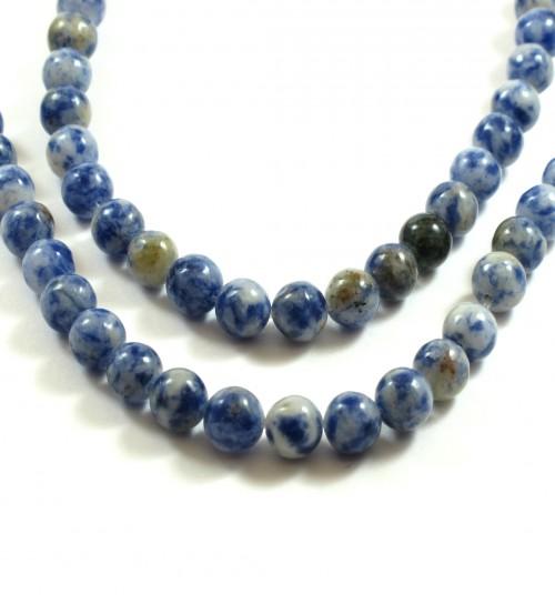 Ίασπις Blue spot ημιπολύτιμη στρογγυλή χάντρα 6mm · Χάντρες Ιάσπις 4988b550e03