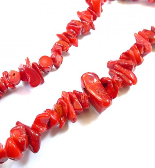 Chips κόκκινο κοράλι ακανόνιστη χάντρα 8~18mm 160 χάντρες f7c8a70dd95