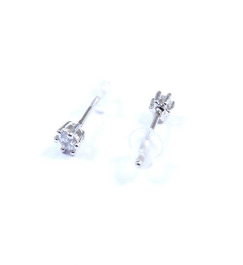 Σκουλαρίκια ασημένια 925 καρφωτά με ζιργκόν 3mm σέτ d1c551851fe